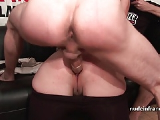 Hard double penetrated for her amateur casting couch