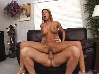 Hot Mature Cougar Demi Delia Banged on Couch