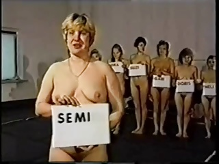 Retro Moms Naked cat fight Competition