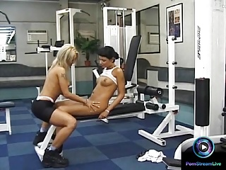 Sexy lesbians Szilvi & Brigi fondling and eating each others