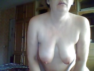 Old russian mom on webcam