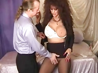 Hot Busty Brunette Cougar Smoking Playing and Banging