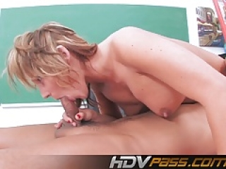 Big Boobs Blonde Milf Nikki Ride a Cock 69