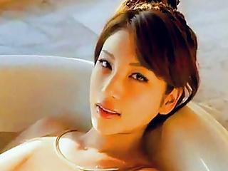 Sexy Asian big tits bath
