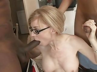 A Mature Woman with 2 black Men. NH