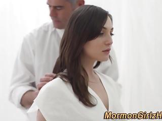 Teen mormon cum blessed