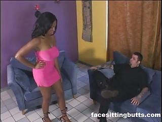 Ghetto slut tied up and fucked by a white stud