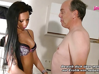 German Latin fuck with her landlord