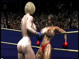 FPZ3D S vs G 3D Toon Fistfight cat fight Big Tits One-Sided