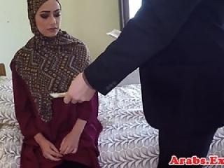 Arab amateur plowed before blow job